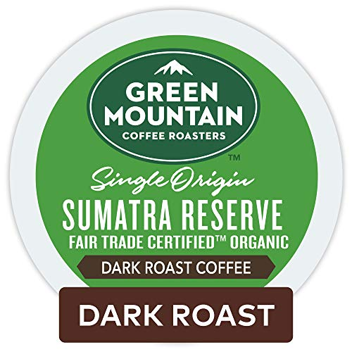 Green Mountain Coffee Roasters Sumatran Reserve Keurig Single-Serve K-Cup pods, Dark Roast Coffee, 72 Count