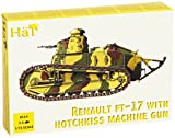 HaT 8114 1/72 WWI Renault FT17 Tank with Hotchkiss Machine Gun (2) for Plastic Toy Soldiers Unpainted Set