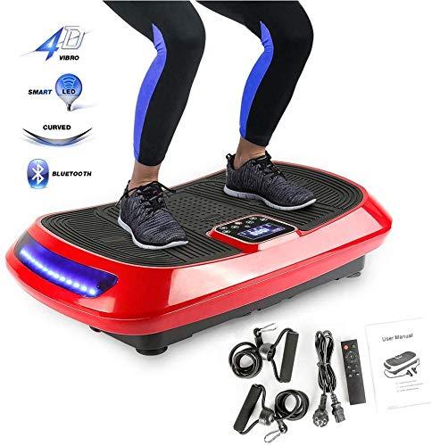 CHome Piastra 4D Fitness Vibration Trainer, 3 Motori + Schermo LCD Bluetooth Audio + + Telecomando, Vibrazioni Piatto Shapers del Corpo di Attrezzature Fitness per la Camera Ufficio Vivente
