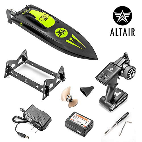 ALTAIR Brushless RC Boat | AA Tide Remote Control High Speed Boat 40+ KM/h | Auto Self-Righting Capability | 1500 mAh Rechargeable Battery Included | Fun and Fast RC Boat (Lincoln, NE Company)