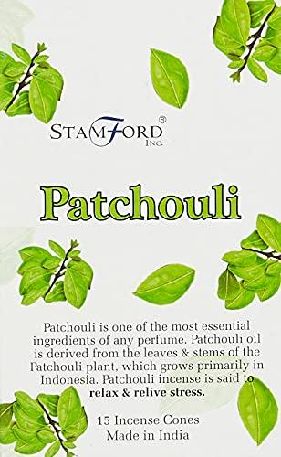 Stamford - Coni di incenso, Aroma: Patchouli