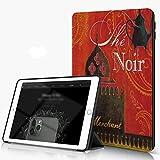 She Charm Étui Compatible avec iPad 9.7 2018/2017,Château de théière Noir créatif...