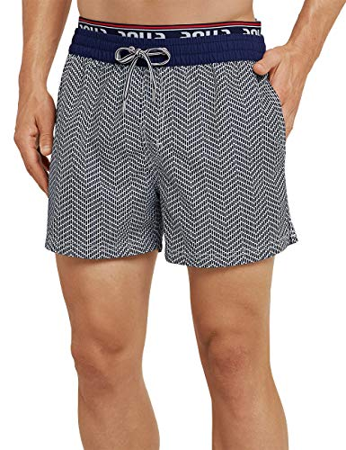 Schiesser Herren Aqua Beach Shorts, Blau (Admiral 801), Medium (Herstellergröße: 005)
