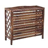 YINxy - Rejilla de madera para aire acondicionado, cubierta
