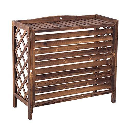 YINxy - Rejilla de madera para aire acondicionado, cubierta exterior de aire acondicionado, decoración y belleza, resistente a la lluvia, cubierta exterior con rejilla