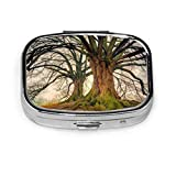 Tree Nature Wood Landscape Plant Kahl Log Tribe Modern Pill Box Square Pill Case Organizer Case
