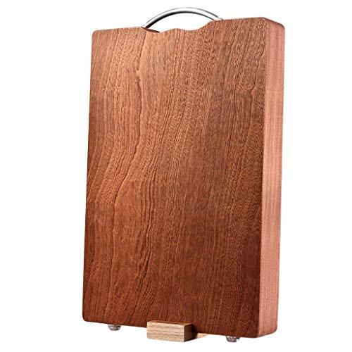 Tablas de cortar para cocina, tabla de cortar de madera personalizada, tabla de cortar de madera ecológica para picar carne, verduras, frutas, queso, bandeja para servir con asas apta para cuchillos