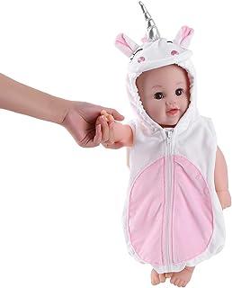 TiaoBug Disfraz de Unicornio Bebé para Fiesta Bautizo Cumpleaños Traje de Animal Unicornio 3D Niños Infántil Peleles Mameluco Divertido Recién Nacidos Trajes con Capucha Disfraces Carnaval Halloween