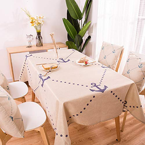 Yueyue947/Tropical Palm Leaf Table h/Geometric Love Printed Table h/Exotic Restaurant Pastoral Style r Table Cover/H 100X140Cm