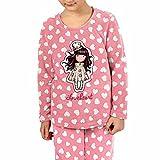 Santoro Gorjuss Pijama de invierno de 2 piezas, camiseta + pantalón de cálido algodón polar otoño/invierno, original y auténtico, ideal para niña/niña, en bonita caja de regalo, 54424, 4 años