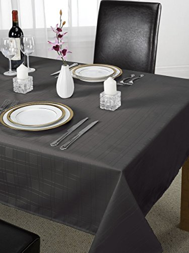 Luxe Chequers Design Tafelkleed Zwart 70 Inch Rond