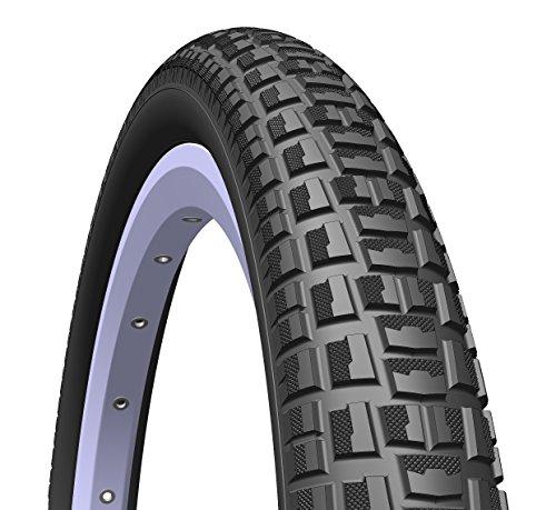 1 par de neumáticos Mitas/Rubena Nitro BMX, 20 x 2,00 (52-406), color negro (par de neumáticos).
