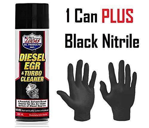 Roaduserdirect Packages 1 x Lucas Diesel EGR & Turbo Cleaner (1 x 500ml Can) & Pair Of Black Nitrile Gloves