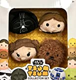 Disney TSUM TSUM Star Wars Plush Collector Set (4 pack) _Darth Vader, Han Solo, Princess Leia & Chewbacca