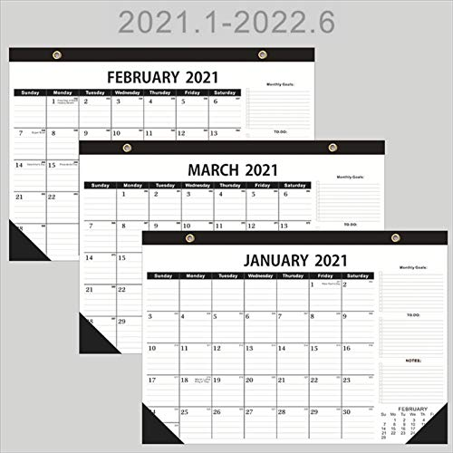 Valensha 2021 Desk Calendar,Large Monthly 24 Months Wall Calendar with to DO,Planning Stickers,Ruled Blocks,Julian Date,Perfect for Organizing & Schedule 3