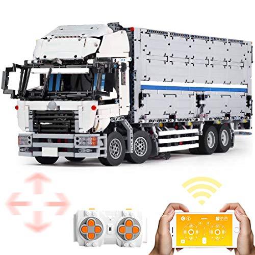 Dittzz Technik LKW Bausteine, 2.4Ghz RC Groß Lastwagen Modell Bauset mit 6 Motor und Fernbedienung, 4166 Teile Konstruktionsspielzeug Kompatibel mit Lego Technic