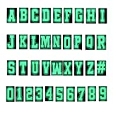 37 Pieces Glow in the Dark Letter Number Shoe Charms for Birthday Party Gifts, Pins Accessories Charmsfor Women Girls Adults Boys Teens, shoe Decoration for Wristband Bracelet 0-9 # Number, A-Z Letter