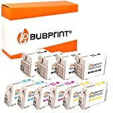 Bubprint - Juego de 10 cartuchos de tinta compatibles con Epson T2701-04 T2711-14 27XL para Workforce WF-3620DWF WF-3620WF WF-3640DTWF WF-7110DTW WF-7610DWF BK C M Y