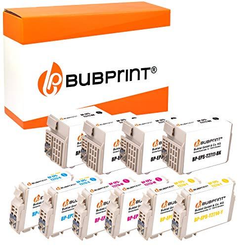 Bubprint 10 Druckerpatronen kompatibel für Epson T2701-04 T2711-14 27XL für Workforce WF-3620DWF WF-3620WF WF-3640DTWF WF-7110DTW WF-7610DWF BK C M Y
