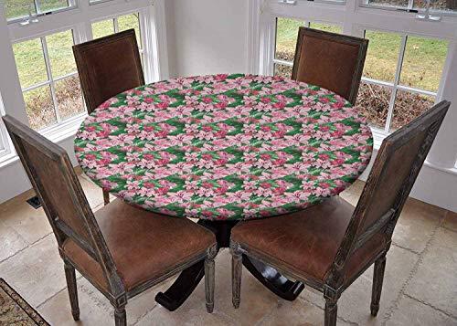Ronde tafelkleed keuken decoratie, tafelblad met elastische randen, Puzzel Stijl Kleurrijke Letters Preschool Thema Meisje Naam met Romeinse Mythologie Wortels Multi kleuren, outdoor tafelkleed