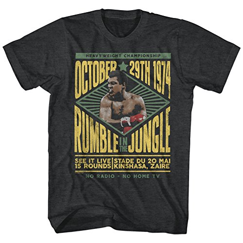 Muhammad Ali 60s Rumble in The Jungle October 29 1974 Adult T-Shirt Tee Black