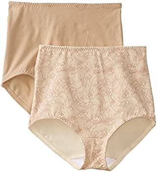Bali Women s Smoothers Shapewear 2 Pack Cotton Brief with Light Control Lace Flowers X-Large