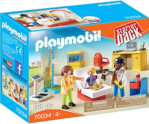 Playmobil - Starterpack Consulta Pediatra, Multicolor (70034)
