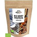 AlpenPower BIO WHEY Protein Lebkuchen 500g I Ohne Zusatzstoffe I 100% natürliche Zutaten I Bio-Milch aus Bayern und Österreich I Hochwertiges Eiweißpulver