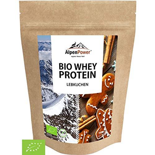 AlpenPower BIO WHEY Protein Lebkuchen 500g I Ohne Zusatzstoffe I 100{1cf05bffd983afed8a277c559e84b23f05694e95ac00bdc14839fb8636aae038} natürliche Zutaten I Bio-Milch aus Bayern und Österreich I Hochwertiges Eiweißpulver