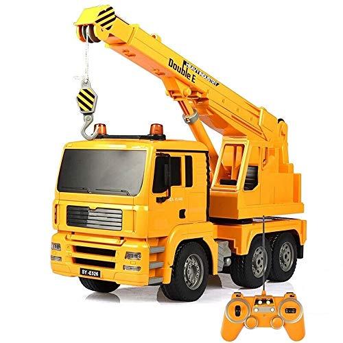 Kikioo 1:20 Escala de 2,4 GHz de control remoto, de Modelos de fundición de grúa de auxilio Road vehículos de la construcción excavadora, Grúa, Remolque for los niños Parte regalos de los favores de l