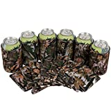 QualityPerfection Blank Can Cooler Sleeves Beer,Coolies Sublimation HTV Insulated,Collapsible Coolers, DIY Customizable for Parties, Events or Weddings, Bulk (25, Forest Camo)