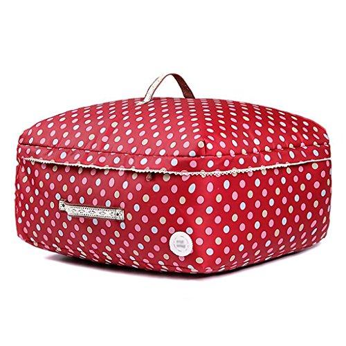 Sacs de rangement Xuan - Worth Another de Courtepointe Lavable Rouge Point Blanc Sac de Finition Quilts (Taille : 68 * 48 * 32cm)