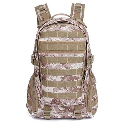 Camtoa Tactical Rucksack Outdoor Militär Rucksäcke Camping Wandern Trekking Armee Patrol Molle Assault Pack, Desert Digital