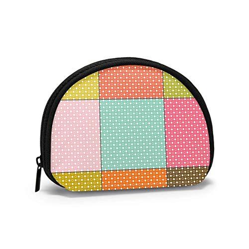 Oxford Cloth Dots Nahtlose farbige Geldbörse Kleine Reißverschlusstasche Brieftasche Wickeltasche Mini Kosmetische Schminktaschen Organizer Mehrzweckbeutel