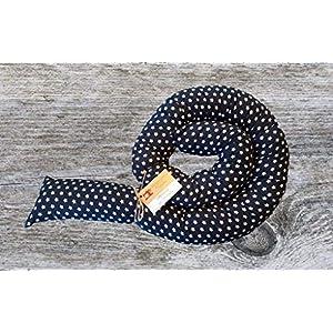 Bettschlange, Dunkelblau mit Sternen, 180cm bis 300cm wählbar, Handmade, ÖKO-TEX® Standard 100 zertifizierte Materialien…