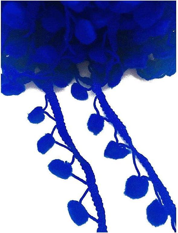 Kalagiri Max 85% OFF Pompom Royal Blue Cotton Fringe for Trim Max 78% OFF S LACE Tassels