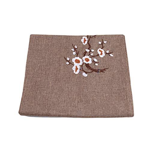 unknow YiYour - Alfombrilla de mesa con patrón de ciruela, algodón y lino, para restaurante en casa, café claro, 30 x 210 cm