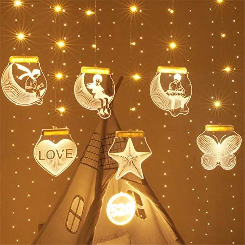 Jyebjd kerstdecoratie, feeënlicht, kerstdecoratie, voor babykamer, feestjes, Kerstmis, bruiloften