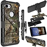 Google Pixel 3a XL Case, Pixel 3a XL Holster Case, Zoeirc [Heavy Duty] Armor Shock Proof Dual Layer Phone Case Cover with Kickstand & Belt Clip Holster for Google Pixel 3a XL (2019)(camo)