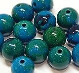 Chrysocolla Crisocollo, perline rotonde in pietra preziosa di ametista, 6 mm e 8 mm, blu e verde, perline Gemstone Beads (8 mm)