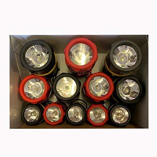 Mercury Krypton Gummi-Taschenlampen, 12 Stück, Inhalt: 5 x LTRB09, 4XLTRB10, 3 x LTRB11
