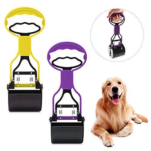 Extaum Dog Pooper Scooper,Pet Dog Pooper Scooper for Dogs Poop Waste Pick Up Rake Tool 2 PCS