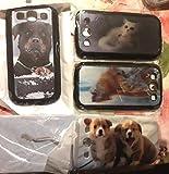 Funda para teléfono móvil S para Samsung S2, S3, 4, 5, Mini, Note 2, 3, 4, N910, I9082, 2 perros