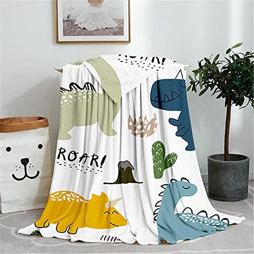 KLily Manta con patrón de dibujos animados, adecuada para la cubierta de la oficina, manta de la siesta de los niños, manta del aire acondicionado, universal en todas las estaciones