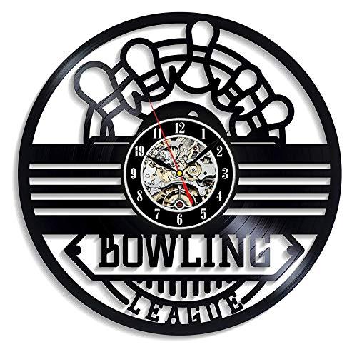 Vinyl Schallplatte Wanduhr Moderne Design Dekoration hängen Bowling Sport Vinyl Schallplatte Uhr Schüssel Club Wand Wanduhr Hauptdekoration