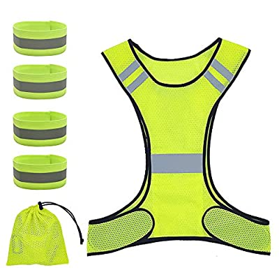 New Best Reflective Running Recommended Safety Gear - Great for Biking, Cycling, Walking for Men & Women Gear for High Visibility