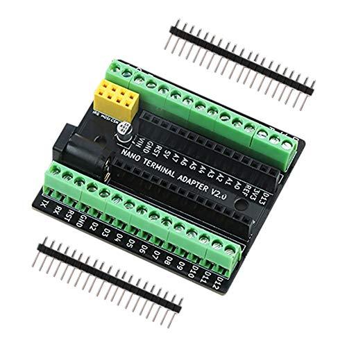 cineman Scheda Adattatore di espansione terminale Nano per Arduino Nano V3.0 AVR ATMEGA328P con interfaccia di espansione NRF2401 +, interfaccia di Alimentazione CC