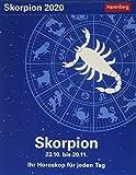 Skorpion Sternzeichenkalender. Tischkalender 2020. Tageskalendarium. Blockkalender. Format 11 x 14 cm