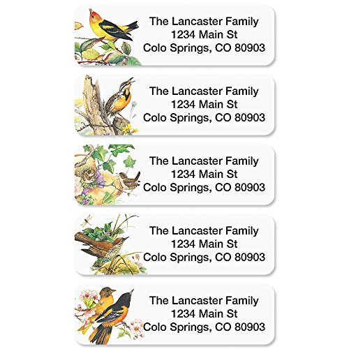 Meadow Birds Rolled Address Labels with Clear Dispenser by Colorful Images (5 Designs) Roll of 250 Photo #2