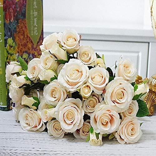 SYART 5 Cabezas/Paquete Ramo de Rosas Accesorios Nupciales de Boda jarrones de liquidación para Flores Decorativas para el hogar Plantas Artificiales de álbum de Recortes